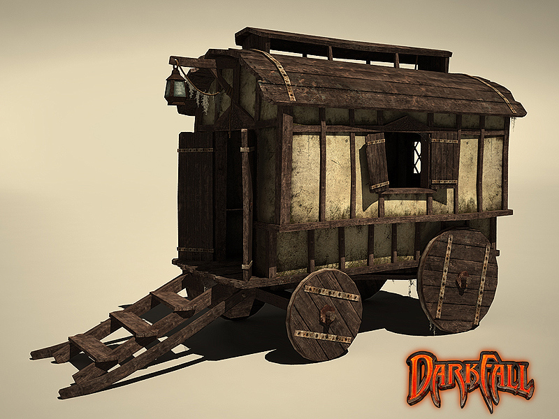 carriage_lowpoly_3d